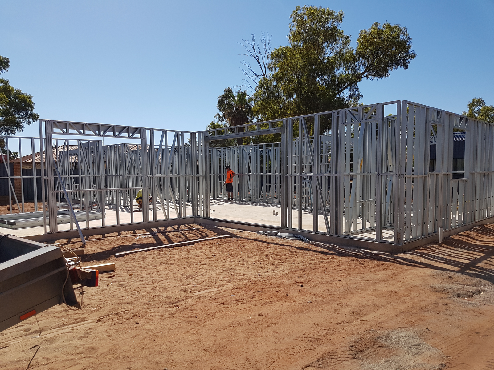 Steel Frames Trusses WA - Installation